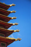 Fragment of the roof of the Pagoda Seven Days,Elista,Republic of Kalmykia Stock Images