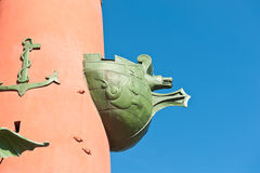 Fragment of the Rostral Column in Saint Petersburg, Russia Stock Photography