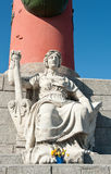 Fragment of the Rostral Column in Saint Petersburg, Russia Stock Photos