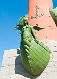 Fragment of the Rostral Column in Saint Petersburg, Russia Stock Images