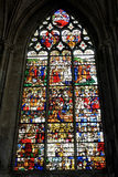 Fragment of Rouen Cathedral on May 3, 2013 in Rouen, France. Stock Image
