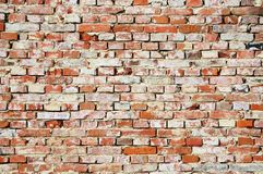 Fragment of rough brick wall Royalty Free Stock Image
