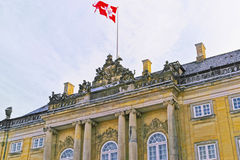 Fragment of Royal palace in Copenhagen in winter Stock Photo