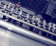 Fragment of rubber offset press Stock Images