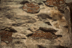 Fragment of a ruined wall of house Royalty Free Stock Photography