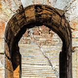 Fragment of the ruins of The Odeon of Pericle Stock Photography