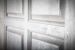 Fragment of a rustic wooden door. Selected focus Stock Photography