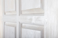 Fragment of a rustic wooden door. Selected focus Stock Photography