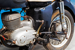 Fragment of a rusty old motorcycle Royalty Free Stock Photo