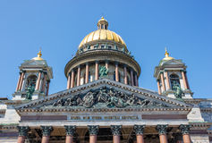 Fragment Saint Isaac's Cathedral Royalty Free Stock Photo