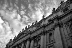 Fragment of Saint Peter Basilica in Vatican. Royalty Free Stock Images