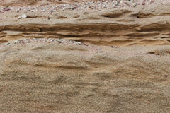 Fragment of the sandy beach Royalty Free Stock Photography
