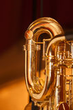 Fragment of the saxophone Stock Image