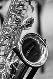 Fragment of the saxophone Stock Photo