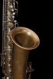 Fragment of the saxophone Royalty Free Stock Photos