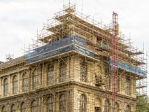 Fragment of scaffolding in Prague Royalty Free Stock Photo