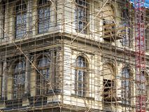 Fragment of scaffolding in Prague Royalty Free Stock Photography