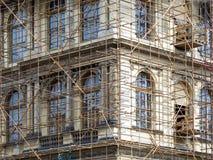 Fragment of scaffolding in Prague Stock Photos