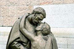 Fragment  of the Sculpture The Return of the Prodigal Son Royalty Free Stock Photos