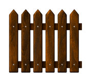 Fragment seamless wooden fence Stock Photo