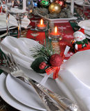 Fragment serving Christmas table Royalty Free Stock Image