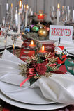 Fragment serving Christmas table Royalty Free Stock Images