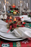 Fragment serving Christmas table Stock Image