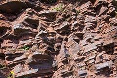 Fragment of shale rock Royalty Free Stock Photography