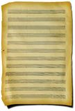 Fragment of sheet with music. Aged page fragment with music Royalty Free Stock Photos