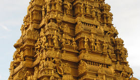 Fragment of Shiva temple. Fragment of the Shiva temple in Murudeshwara, India stock photography