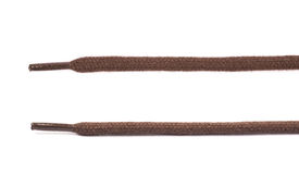 Fragment of a shoelace isolated Stock Images