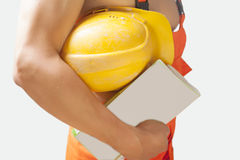Fragment shot of a strong builder man Royalty Free Stock Image