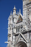 Fragment of Siena cathedral in a sunny day, Tuscany, Italy Royalty Free Stock Photos