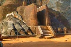Fragment of Sigiriya Lion Rock Fortress Stock Photo