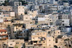 Fragment of Silwan Village. Part of Arab Silwan village next to the Jerusalem Old City in Israel Royalty Free Stock Images