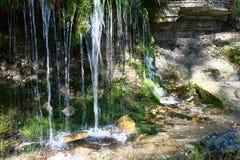 Fragment of the Slovenskiye springs. Stock Photo