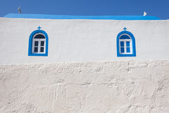 Fragment of small church. In Kos island, Greece Stock Photos
