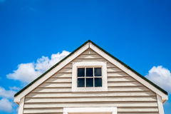 Fragment of the small wooden house Stock Photo