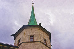 Fragment of a Spire of the Building in Solothurn Royalty Free Stock Images