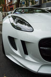 Fragment of the sports car Jaguar F-Type V8S Convertible (since 2013) Stock Photography