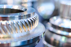 Fragment with spur gear transmission. Royalty Free Stock Photography