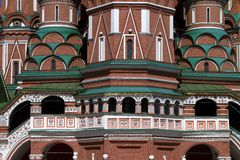 Fragment of St. Basil's Cathedral in Moscow Stock Images