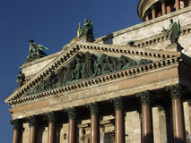 It is a fragment of St. Isaac's Cathedral in St. P Stock Image