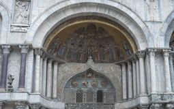 Fragment of St Mark's basilica in Venice Royalty Free Stock Image