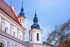 Fragment of St Michael Church in the Old Town of Vilnius in Lith Royalty Free Stock Photo