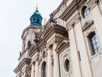 Fragment of St. Nicholas Church located on the old town square. royalty free stock image
