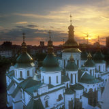 Fragment of the St. Sophia cathedral at sunset. Kyiv, Ukraine Royalty Free Stock Image