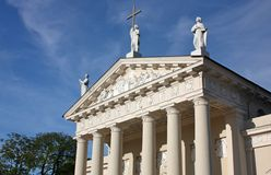 Fragment of St. Stanislaus Cathedral in Vilnius Stock Image