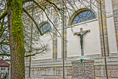 Fragment of St Ursus Cathedral in Solothurn Stock Image