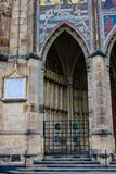 Fragment of St. Vitus Cathedral, Prague,. Czech Republic royalty free stock image